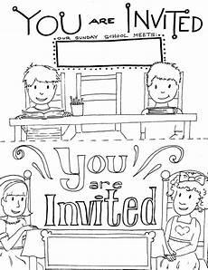 Sunday School Printables Printable Sunday School Invitations Templates