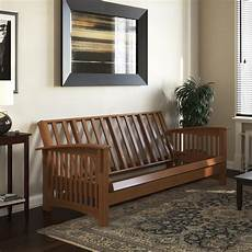 Futon Sofa Bed Frame 3d Image by Dhp Cameron All Wood Futon Frame Convertible Sofa Bed