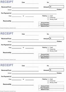 Generic Receipt Form Generic Receipt Template Receipt Template Free Receipt