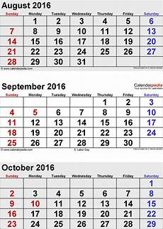 October Calendar October 2016 Calendar Templates For Word Excel And Pdf