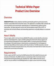 Product White Paper Template 49 White Paper Templates Free Amp Premium Templates