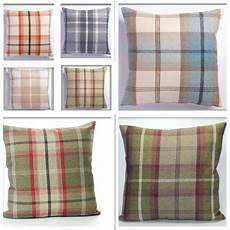 large 22in x 22in highland mist tartan or check cushion