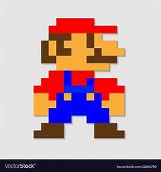 Pixelated Mario Characters Pixel Mario Royalty Free Vector Image Vectorstock