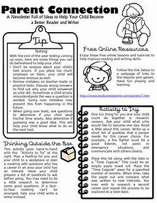 Examples Of Newsletters For Parents From Teachers Parent Connection Newsletter Issue 7 Book Units Teacher