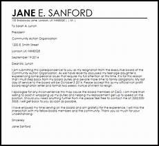 Board Resignation Letter Sample Non Profit Board Resignation Letter Resignation Letters