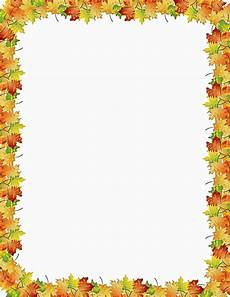 Free Fall Borders For Word Autumn Leaves Border Page Frames Floral Leaves Autumn