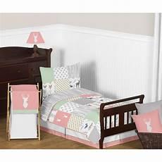 sweet jojo designs woodsy 5 toddler bedding set