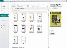 Template For Publisher Creating And Publishing Catalogs For Your Business Using