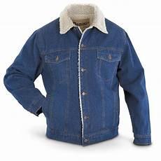 Jean Jacket Denim Guide Sherpa Lined Denim Jacket Stonewashed 421821 Insulated