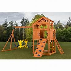 Playset Designs Creative Cedar Designs Timber Valley Playset With Blue