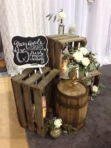 rustic wedding decore with barrels rustic cabin decor in
