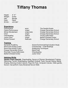 Child Actor Resume Format How Beginner Actor Resume Realty Executives Mi Invoice