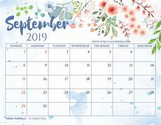 Free Printable September Calendar Blank September 2019 Calendar Printable On We Heart It