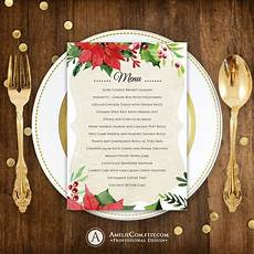 Free Blank Christmas Menu Templates Christmas Menu Printable Dinner Menu Rustic Christmas