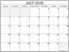 Calendar Print Out 2020 July 2020 Calendar Free Printable Monthly Calendars