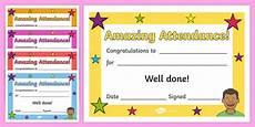 100 Attendance Certificate Template Full Attendance Certificate 100 Certificates Award