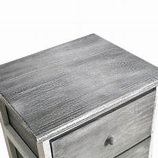 mobili 174 cabinet bedside table 3 drawer grey wooden