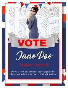 Student Council Poster Template Customizable Design Templates For School Campaign