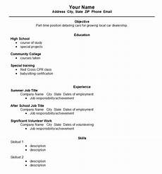 Resume Outline For High School Students High School Student Resume Template Open Resume Templates