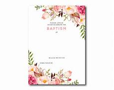 Free Invitation Cards Templates Free Printable Baptism Floral Invitation Template