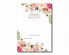 Free Editable Invitation Templates Free Printable Baptism Floral Invitation Template