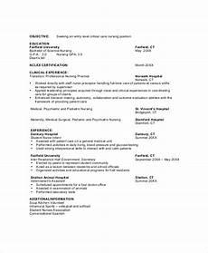 Entry Level Nursing Resume Objective Free 7 Nursing Resume Objective Templates In Pdf