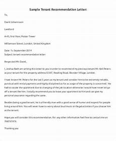 Tenant Letter Of Recommendation 5 Sample Tenant Recommendation Letter Free Sample