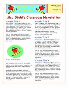 Sample Newsletters For Parents School Newsletter 2 Col 2 Pp