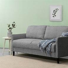 zinus classic upholstered 71in sofa living room