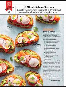 Cooking Light Recipes August 2017 Quot 10 Minute Salmon Tartines Quot From Cooking Light August