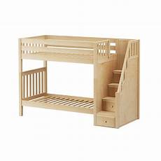 high staircase bunk bed with stairs solid wood kidz