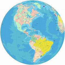World Map Of North And South America Political Map North America Map Outline Political With