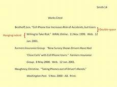 Work Cited Examples University Of Southern Mississippi