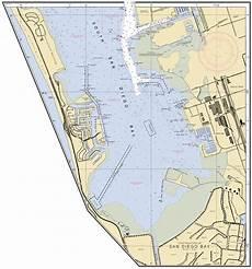 San Diego Bay Depth Chart Continuation Of San Diego Bay Nautical Chart νοαα Charts