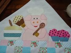 patchwork pano de prato mimos patchwork pano de prato de porquinho