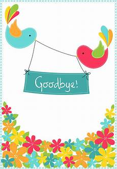 It Goodbye Checks Design Goodbye From Your Colleagues Good Luck Card Free