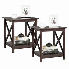 yaheetech x design bedside tables nightstand with open