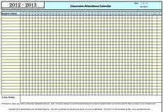 Blank Attendance Sheet For Teachers Monthly Calendars Current Year Classroom Attendance