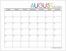 Calendar 2015 August 6 Best Images Of Cute August 2015 Calendar Printable Free