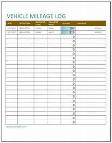 Vehicle Milage Log 10 Vehicle Mileage Log Templates For Ms Excel Word