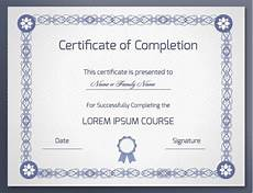 Generic Certificate Of Completion 18 Free Certificate Of Completion Templates Utemplates
