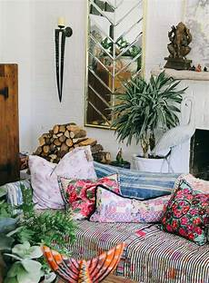 Bohemian Home Design In A Maximalist S Layered Bohemian Home