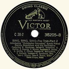 sing sing sing with a swing louis prima contra el swing sing sing sing with a swing