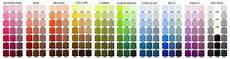 Pan Pastel Color Chart Pastel Progress Colour Charts