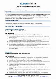 Resume For Account Accounts Payable Specialist Resume Samples Qwikresume