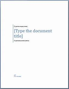 Title Page Template Word 2010 Add A Cover Page To A Word Document