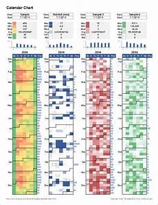 Heat Maps In Excel Calendar Heat Map Chart Template