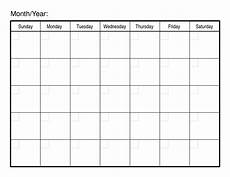 Free Pdf Calendar Template Sample Calendars To Print Activity Shelter