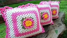 fundas para cojines tejidos a crochet en variados puntos