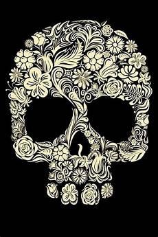 floral skull iphone wallpaper floral skull wallpaper for iphone iphone wallpaper